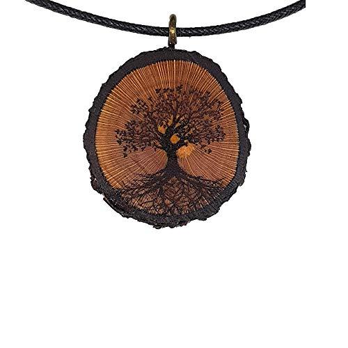 Baum des Lebens Holz Hals-Kette - Natur...
