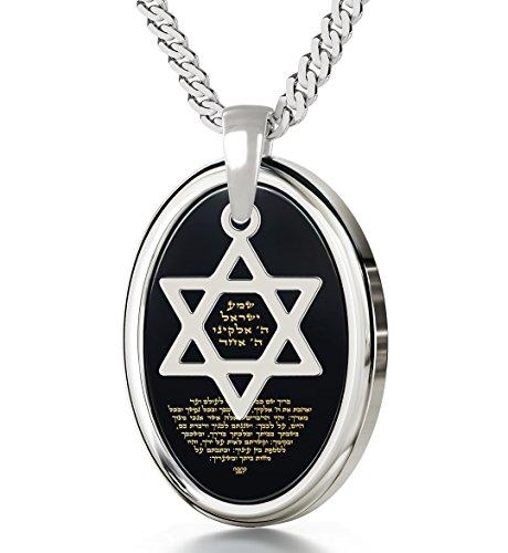 925 Sterling Silber Halskette Davidstern...