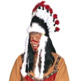 Widmann 3305B - Indianerhaarschmuck Wilder Stier, Häuptlings-Kopfschmuck, Mottoparty, Karneval