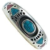 Indianerschmuck Herrenring aus Sterling Silber - Native Spring, Türkis/Koralle-12: Durchmesser 21,50 mm, Umfang 67,50 mm