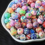 DAHI Perlen zum auffädeln ca.150 pcs Kugel Blumen runde perlen bastelnperlen zum auffädeln gemischte Farbe (10x10mm)