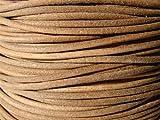 esnado Lederband, Lederschnur, Lederriemen 5 m. Rund 2,0 mm. Natur