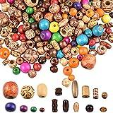 LYTIVAGEN 800 Stück Schmuck Holzperlen Verschiedene Formen Holz Perlen zum Basteln Gemalt Holzperlen für DIY Schmuck, Armbänder, Halsketten, Traumfänger, Kunsthandwerk, Dekorationen